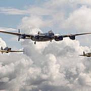 Battle Of Britain - Memorial Flight Art Print