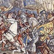 Battle Of Fornovo, Illustration Art Print