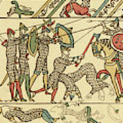 Battle Of Hastings The Battle Rages Art Print