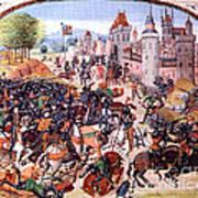 Battle Of Nevilles Cross 1346 Art Print