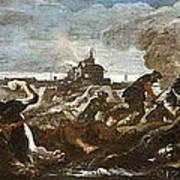 Battle Of Saint-quentin Art Print