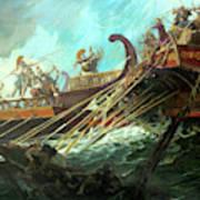 Battle Of Salamis, 480 Bce Art Print