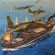 Battle Of The Bismark Sea Art Print