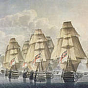 Battle Of Trafalgar Art Print by Robert Dodd