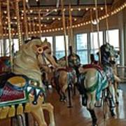 Battle Ship Cove Carousel Art Print
