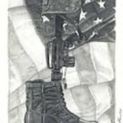 Battlefield Cross Art Print