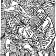 Battlefield Surgeon, 1540 Art Print