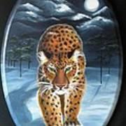 Batukhan Snow Leopard Art Print