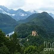 Bavarian Lake With Castle Art Print