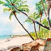 Bavaro Tropical Sandy Beach Art Print