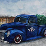 Baxter Truck Art Print by Stacey Pilkington-Smith
