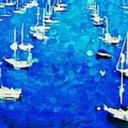 Bay Boats Art Print