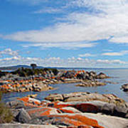 Bay Of Fires Panorama Art Print