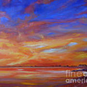 Bay Of Hythe On Fire Art Print