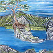 Bay View In Oregon Art Print