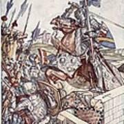 Bayard Defends The Bridge, Illustration Art Print