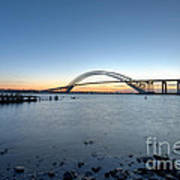 Bayonne Bridge Longe Exposure Sunset Art Print