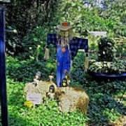 Bayou Crow Scarecrow At Bellingrath Gardens Art Print