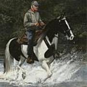 Big Creek Man On Spotted Horse Art Print