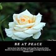 Be At Peace Art Print