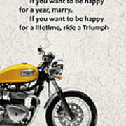 Be Happy Triumph Art Print