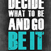 Be It Poster Grey Art Print