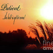 Be Patient Art Print by Cathy  Beharriell