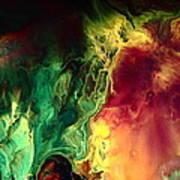 Be Together - Red Green Abstract Art By Kredart Art Print
