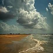 Beach And Clouds Art Print