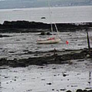 Beach At Culross Scotland Art Print