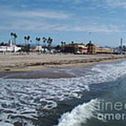 Beach At Santa Cruz Art Print