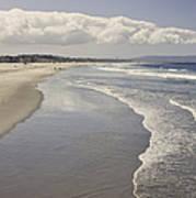 Beach At Santa Monica Art Print