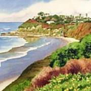 Beach at Swami's Encinitas Art Print
