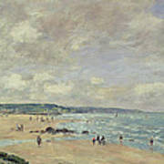 Beach At Trouville Art Print
