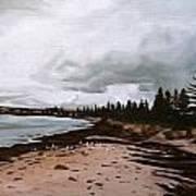 Beach At Victor Art Print