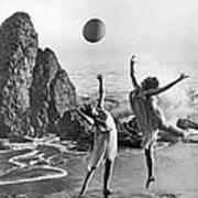 Beach Ball Dancing Art Print