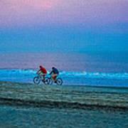 Beach Biking  Art Print