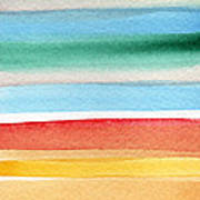 Beach Blanket- Colorful Abstract Painting Art Print