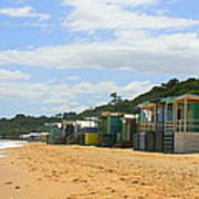 Beach Boxes Mornington Art Print