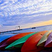 Beach Canoe Art Print