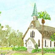 Beach Church Art Print