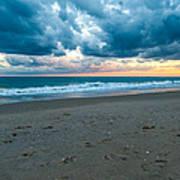 Beach Clouds Art Print