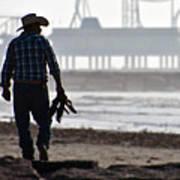Beach Cowboy Art Print