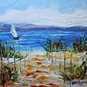 Beach Dunes Summer's End Art Print