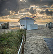 Beach Entrance To Old Glory - Hdr Style Art Print