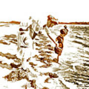 Beach Family  Art Print