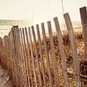 Beach Fencing Art Print