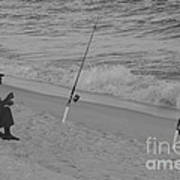 Beach Fishing Art Print