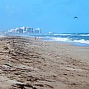 Beach Front 002 Art Print