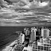Beach Hotels San Juan Puerto Rico Print by Amy Cicconi
